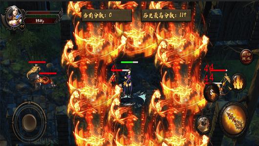 烈焰战神复古版图1